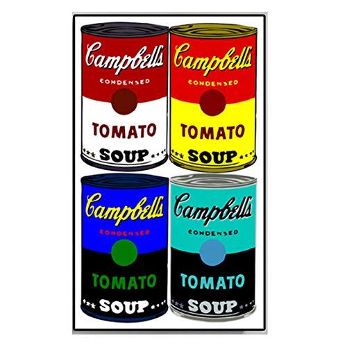 HNZKly Óleo Pinturas Impreso En Lienzo Andy Warhol Campbell's Sopa Clásico Pared Arte Lienzo Pinturas Pared Cuadros Salon Dormitorio Decoracion 40x70cm / Sin Marco Art