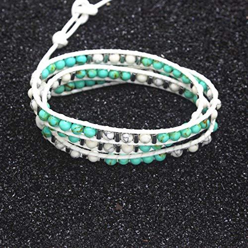Jewellery Bracelets Bangle For Men New Women 3 Layer Adjustable Bracelet Natural Stone Beads Bracelet Woven Leather Bangle For Men Bracelet Women Jewelry Gift 2Black