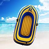 Outdoor Inflatable Kayak with Oar Air Pump Rafting Rubber Boat?Fishing Inflatable Boat? PVC Thickened Double Boat