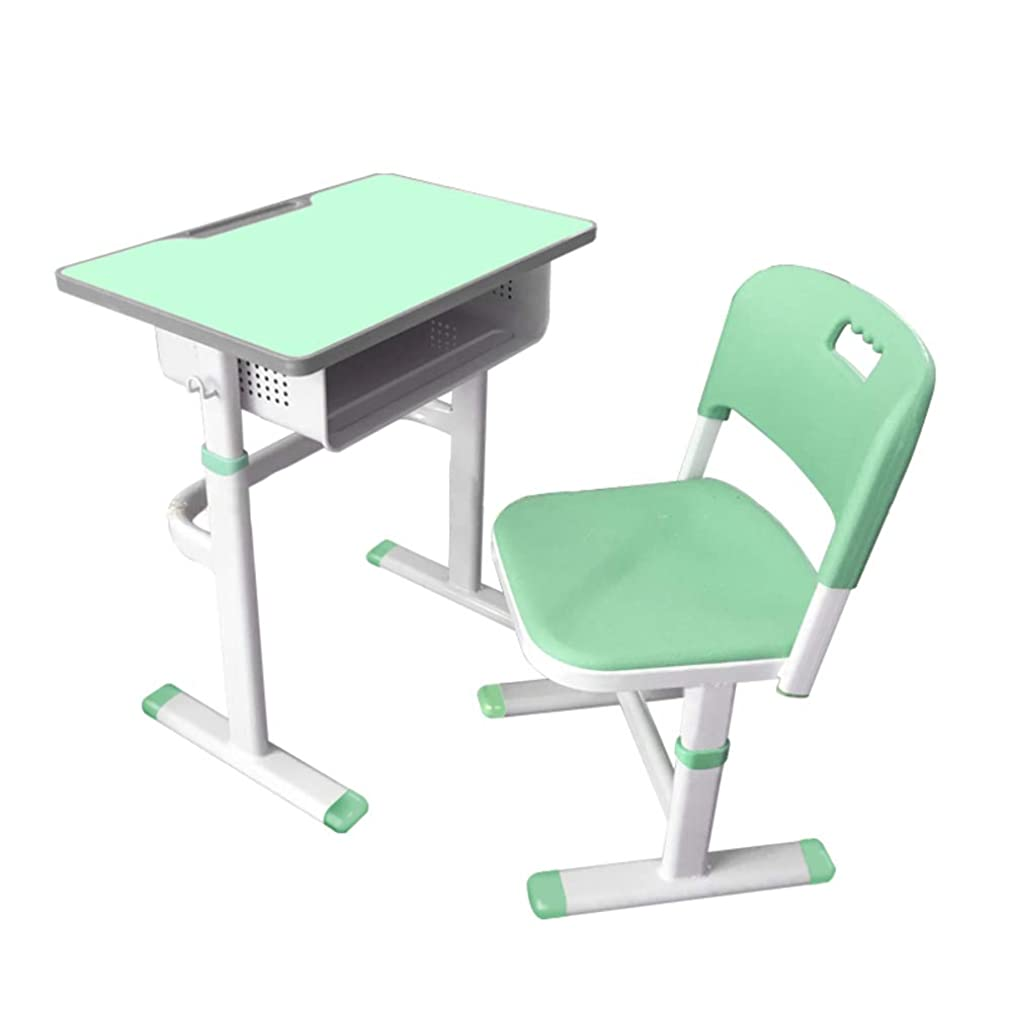 GX&XD Simple Adjustable Study Desk and Chair Set,School Pupils Children's Desk Training Table Classroom Desk for Training Courses Remedial Classes-b
