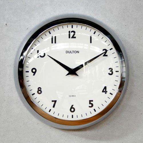 【DULTON】ダルトン ウォールクロック Model S52639(クローム)