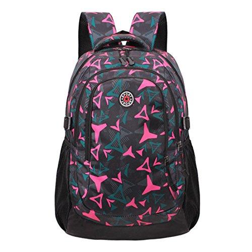 XIE@ Studente di liceo maschile e femminile all'aperto alpinismo borsa zaino moda tempo libero zaini Zaini escursionismo , rose red