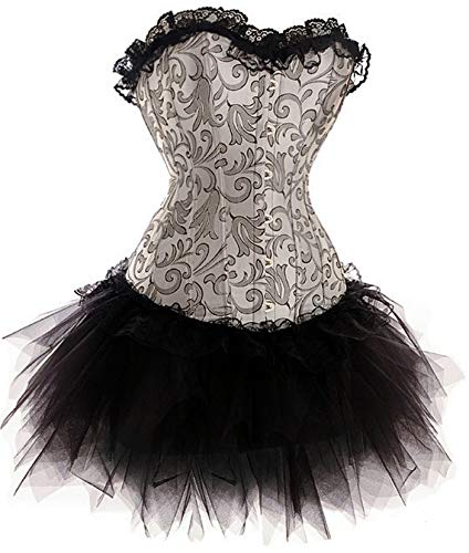 Forever Young Burlesque Moulin Rouge Corsetto Costume da Vestito Costume Can Can 8 10 12 14 16