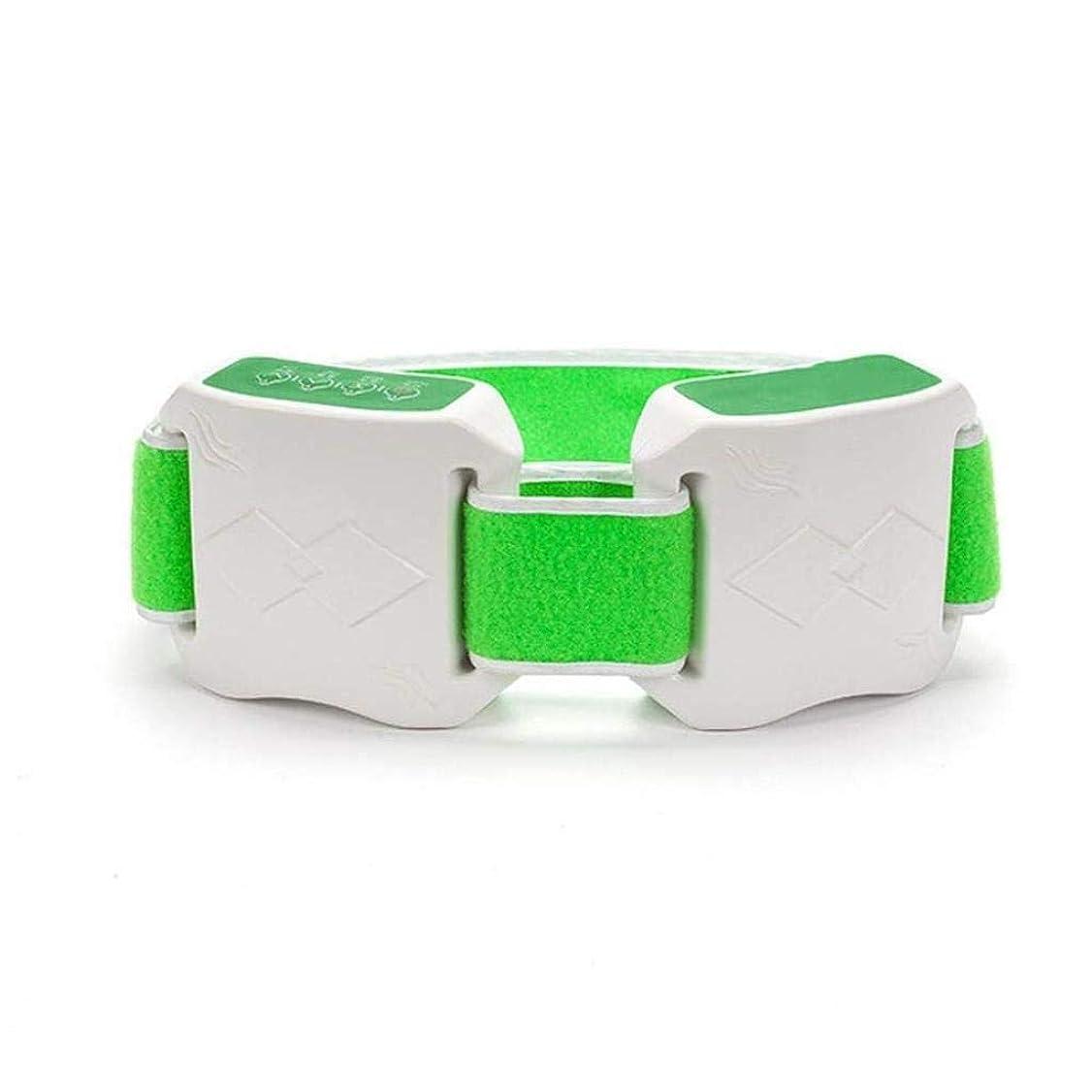 同行するマウスアフリカ減量ベルト、Slim身マシン、女性Slim身ベルト、加熱/振動燃焼脂肪ベルト、腹部減量マッサージ機 (Color : 緑)