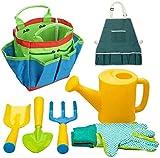 Kids Herramienta de jardinería Set 7 Pack Kids Beach Sandbox Toys Juguetes Juegos de jardinería Equipo de jardinería Rake Spade Shovel Set Plástico Regalos al Aire Libre para niños