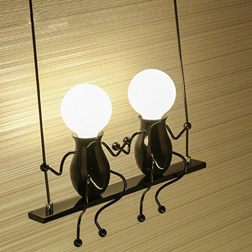 Kinder-Wandleuchte einfache kreative Wohnzimmer Schlafzimmer Nachttischlampe Korridor Gang Balkon Lampe (Farbe : Schwarz)
