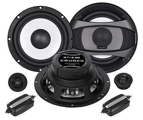 Crunch GTI6.2E Front/Heck 16,5cm/165mm 2-Wege Kompo Auto Lautsprecher/Boxen/Speaker kompatibel für Audi