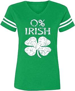 Spadehill St Patricks Day Women V-Neck Short Sleeve Summer T-Shirt