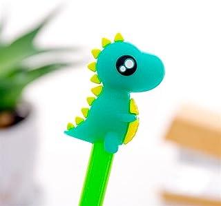 Royare of School Supplies 4Pcs/Set Dinosaur Gel Pen Kit Funny Signature Pen Student Stationery Set (Green)