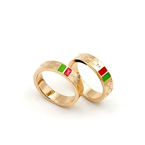 e09c26437 Luxury Shine Celebrity Ring Classic Red And Green Bar TISCO Ring