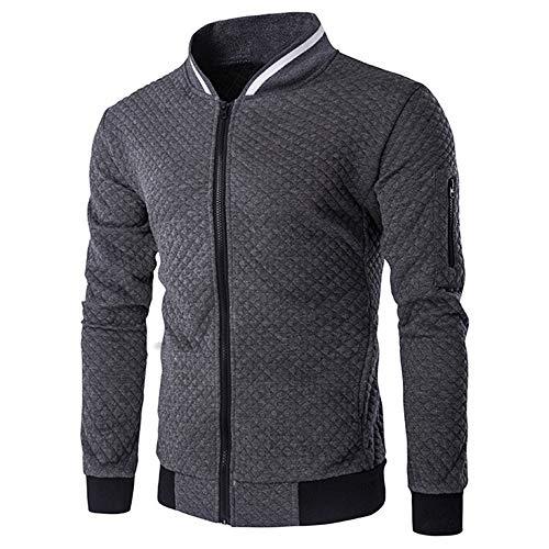 Men's Cardigan, Biker Coat, Round Neckline, Slim fit, Basic Men's...