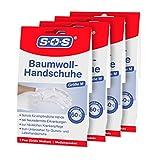 SOS Baumwoll-Handschuhe  Schutz für empfindliche Hände   Neurodermitis (4er-Pack)