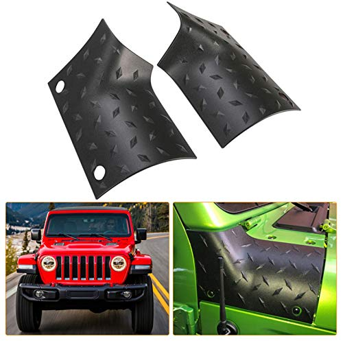 KIWI MASTER Cowl Body Armor Outer Cowl Covers JL Corner Guards for 2018-2021 Jeep Wrangler JL Gladiator JT Sahara Sport Rubicon, JL JT Exterior Accessories Parts, Black