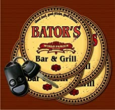 BATOR'S World Famous Bar & Grill Coasters - Set of 4