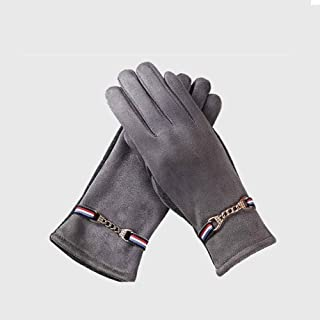 XAZTY Gloves, Autumn and Winter Fashion, Plus Velvet/Thick/Wind/Cold/Non-Slip Touch Screen Warm Gloves