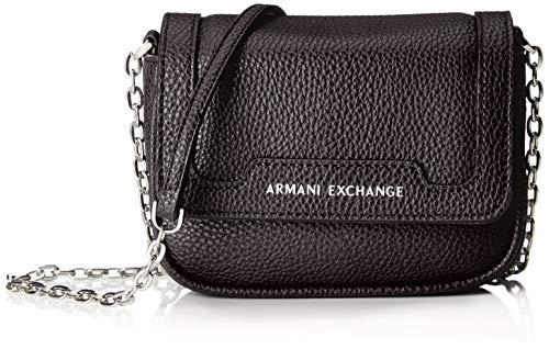 ARMANI EXCHANGE Small Crossbody Bag - Borse a tracolla Donna, Nero (Black), 12x5x16 cm (B x H T)