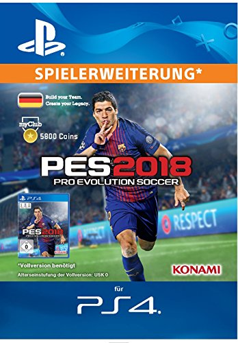 PES 2018 myClub Coin 5800 [PS4 Download Code - deutsches Konto]