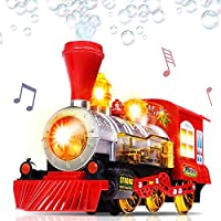 Bubble Blowing Toy Train with Lights and Sounds by ArtCreativity