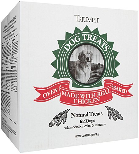 Triumph Pet 736214 Peanut Apple Cinnamon Biscuits For Dogs, 20-Pound