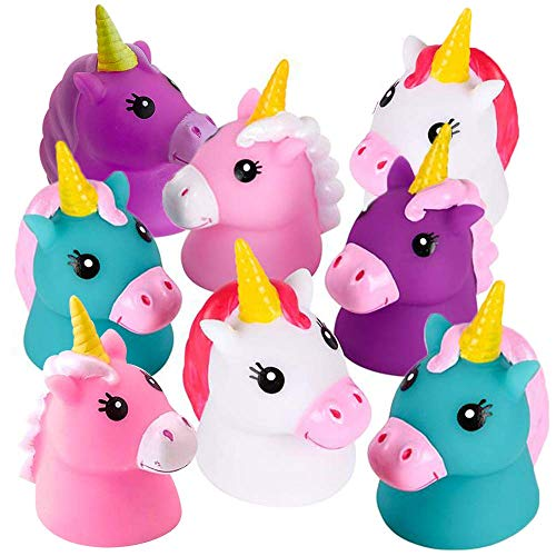 ArtCreativity Unicorn Water Squirt Toys for Kids, Pack of 12, Unicorn Birthday Party Favors, Bath Tub and Pool Toys for Children, Safe and Durable Squirters, Goodie Bag Stuffers
