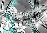 wandmotiv24 Fototapete Diamant Lilie grün, XXL 400 x 280 cm - 8 Teile, Fototapeten, Wandbild, Motivtapeten, Vlies-Tapeten, Edelsteine, Abstrakt, Art M0532