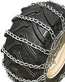 TireChain.com 4.10x4, 3.50x4, 3.40x5, 3.00x5 Heavy Duty Tractor Tire Chains Set of 2