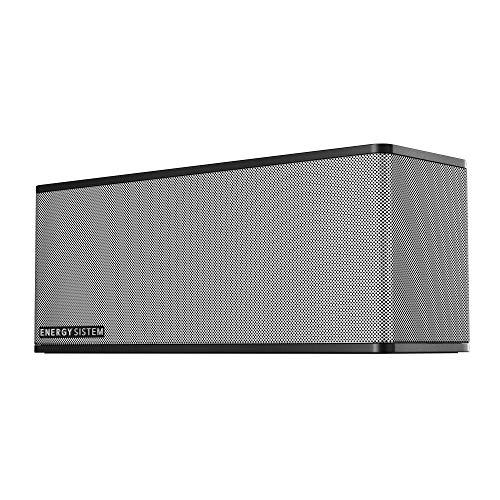 Energy Sistem Music Box 7+ Altavoz portátil con Bluetooth (20 W, Manos Libres, Entrada de Audio y batería Recargable) - negro/plata