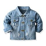 Toddler Baby Boys Girls Denim Jacket Kids Button Jeans Jacket Top Coat Outerwear (Blue, 2-3T)