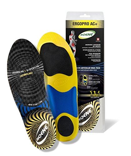 Noene - Solette ErgoPro AC+, Sportive di Sostituzione, assorbono e dissipano l'impatto, Unisex, Taglia 38