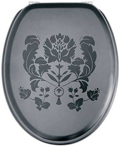 Gelco Design 702987 Black and White - Tapa para WC, Color Negro
