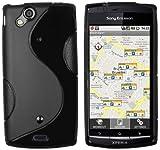 mumbi Hülle kompatibel mit Sony Xperia Arc / Arc S Handy Hülle Handyhülle, schwarz