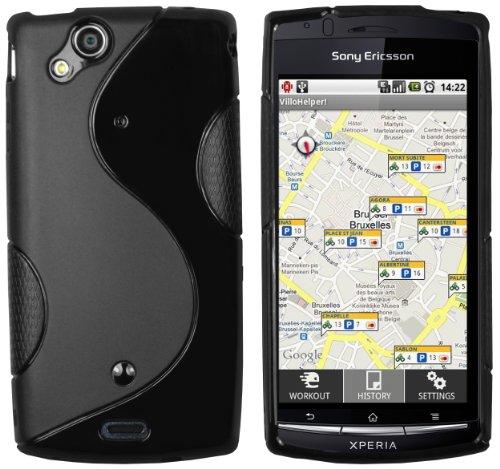 mumbi Hülle kompatibel mit Sony Xperia Arc/Arc S Handy Case Handyhülle, schwarz