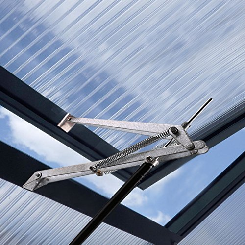 Buyi-World Automatischer Fensteröffner für Treibhäuser Gewächshäuser Frühbeete und Gartenhäuser, Temperaturgesteuerter Fensterheber ab 15-25°C, 7 kg Hubkraft, 45cm Öffnungshöhe