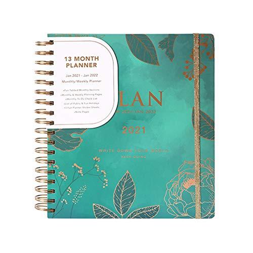HWY B5 2021 Planner Agenda Espiral Semana Vista Diary Planner Vista Día Página Planificador Año Espacio para Escribir Y Apuntar Planificador De Calendario Mensual