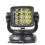 Gdrasuya10 360° LED Searchlight, 80W 10000 Lumens Long-Range Spot Beam LED Search Light Wireless Remote Spotlight for Off-Road Marine Boat Truck Car Boat Night Use
