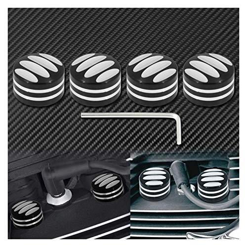 DunMenEn Capacidad De La Cabeza De La Cabeza De La Bujía De La Motocicleta Black/Chrome para Harley Twin CAM Touring 1999-2017 Sportster XL 883 1200 48 72 DunMenEn (Color : Black Nut Covers 1)
