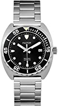 Pantor Sealion 300m Pro Dive Watch, 42mm Automatic Diver Watches for Men with Helium Valve Rotating Bezel Sapphire Crystal,Stainless Steel Bracelet,Black Diving Watch