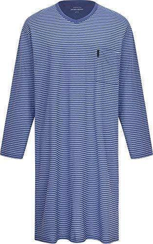 Herren Nachthemd langarm Blau 54