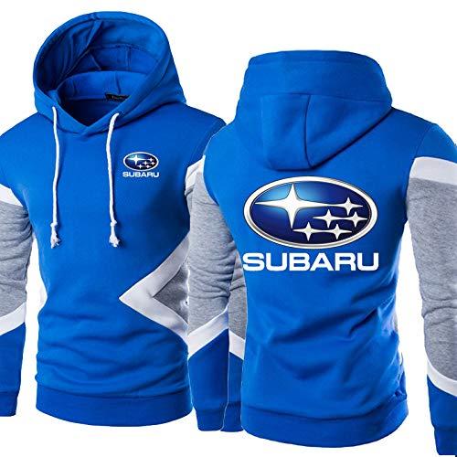 Sudaderas con Capucha De Primavera: Subaru Print Baseball Jersey Casual Sportswear Stitching Manga Larga Pullover Coat - Adolescentes Regalo D-XX-Large