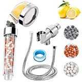 Ionic Shower Head Filter for Hard Water, High-Pressure Handheld Showerhead & 70% Water saving (With Hose And Bracket), Rich Vitamin C for Dry Hair & Skin SPA, With Citrus Fragrance (Hand shower Suit)