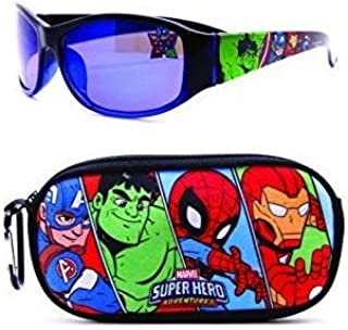 Avengers Kids Sunglasses with Kids Glasses Case, Protective Toddler Sunglasses