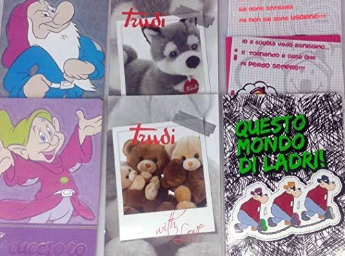 CARTORAMA Quaderno Maxi quadernone 5 Pezzi Trudi e grafiche assortite 1 rigo