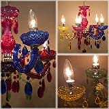 【Bloomin Lamp 】ヨーロッパ風★ブルーミンランプカラーシャンデリアPOPポップ5灯♪