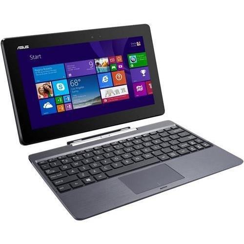 "ASUS Transformer Book T100 T100TA-H1-GR 10.1"" Touchscreen Tablet PC w/Keyboard Dock, Intel Z3740 1.33GHz, 2GB DDR3, 32GB SSD + 500GB on Keyboard Dock, Windows 8.1, Grey (ASUST100TA-H1-GR)"