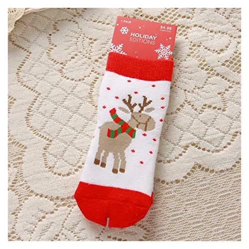 Qsdxlsd Calcetines de Navidad Caliente niñas Navidad niños de algodón Otoño Invierno...