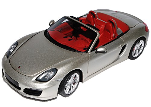 Minichamps Porsche Boxster S 981 Cabrio Silber Grau Ab 2012 1/18 Modell Auto mit individiuellem Wunschkennzeichen