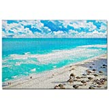 México Dolphins Beach Cancún Puzzle 1000 Piezas para Adultos Familia Rompecabezas Recuerdo Turismo Regalo