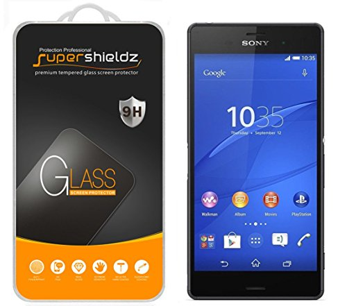 (2 Pack) Supershieldz for Sony Xperia Z3 Tempered Glass Screen Protector, Anti Scratch, Bubble Free
