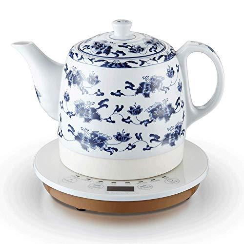 YSkettle Hervidores eléctricos Ceramic Control Inteligente Azul y Porcelana Blanca Jarra hervir...