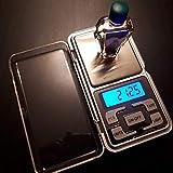 LONGWDS Escala 200G / 500G Balanza de joyería electrónica Balance Escala de gramo 0.01 Precisión para la precisión de Oro...